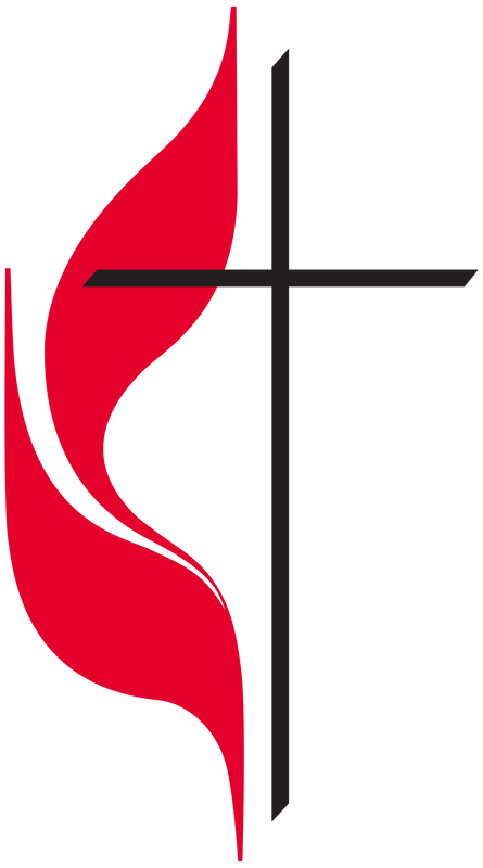 The UMC Logo - A cross and red flame